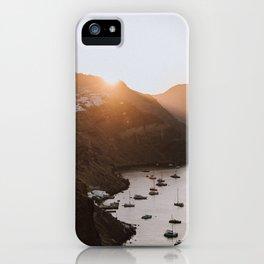 sunrise over oia iPhone Case