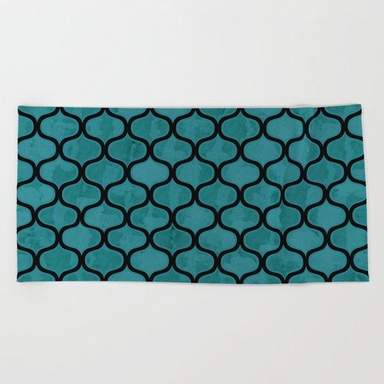 Watercolor Lovely Pattern VVXIV Beach Towel