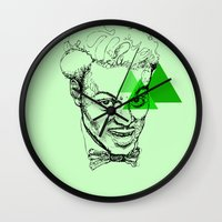 chuck Wall Clocks featuring Chuck Berry by mr.defeo