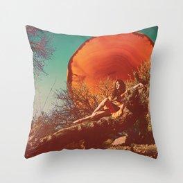 Burnt Sun Throw Pillow