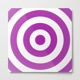 Target (Purple & White Pattern) Metal Print