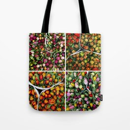 Tulips from Holland - pink, purple, red Tote Bag