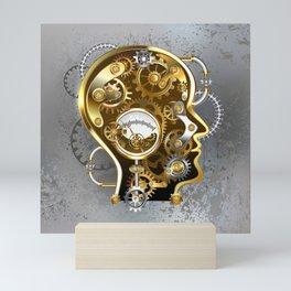 Steampunk Head with Manometer Mini Art Print