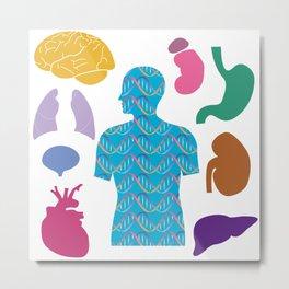 Human Body_C Metal Print