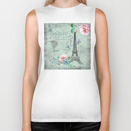 Paris - my love - France Eiffeltower Nostalgy - French Vintage Biker Tank