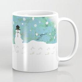 Snowman on Christmas Day Coffee Mug