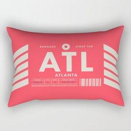 Baggage Tag D - ATL Atlanta USA Rectangular Pillow