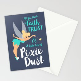 Tinker Bell | Peter Pan's quote Stationery Cards