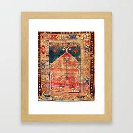 Konya Central Anatolian Niche Rug Print Framed Art Print