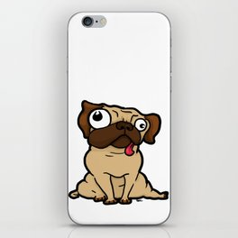 Dopey Pug iPhone Skin