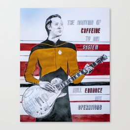 Data and Coffee Canvas Print