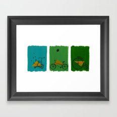 confidant. (tricycle, bicycle, penny-farthing) Framed Art Print