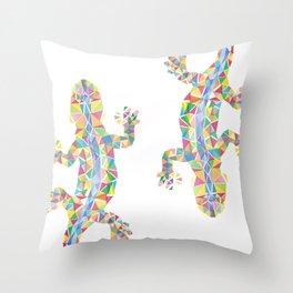 Barcelona Lizard Throw Pillow