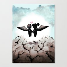 The World Comes Crashing Down Canvas Print