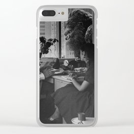 Old Time King Kong Office Rumble Clear iPhone Case