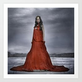 red winter queen Art Print