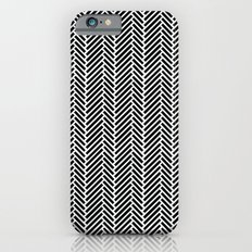 Herringbone Black Inverse iPhone 6s Slim Case