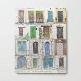 Door to Door Metal Print