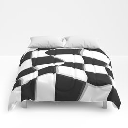 Black and White, No. 7 Comforters