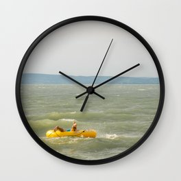 Lake Fun with Inflatable Toys Wall Clock