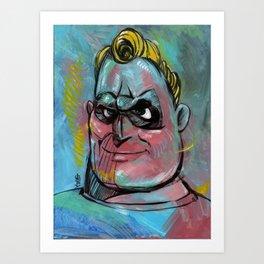 Mr Incredible Art Print