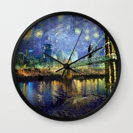 Van Gogh Comes to Cincinnati Wall Clock