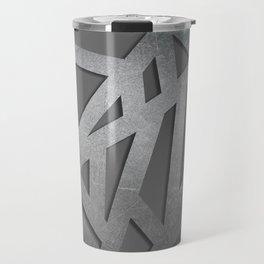 Metal Engraved Geometric pattern Travel Mug