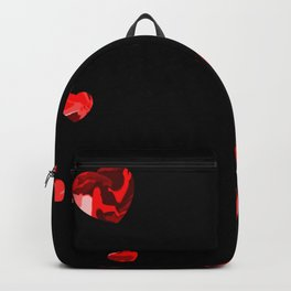 Chaotic Hearts Red Dapple Backpack