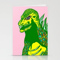 dino Stationery Cards featuring Dino by intermittentdreamscapes