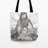 meditation Tote Bags featuring Meditation by Condor