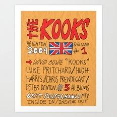 Collage Series VI: The Kooks Art Print