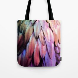 PARROT FEATHERS RAINBOW Tote Bag