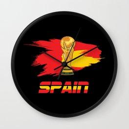 World cup spain Wall Clock