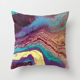 Geode Throw Pillow