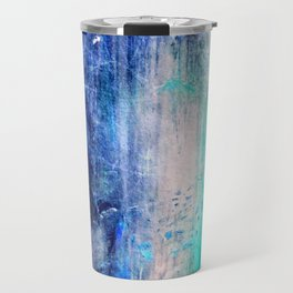 Winter Abstract Acrylic Textured Painting Travel Mug