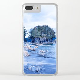 Spring Beach Photography Print Clear iPhone Case