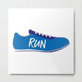 Running Shoes Metal Print