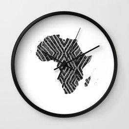 Africa in Dark Grey Wall Clock