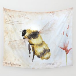 Bumble bee watercolor Wall Tapestry