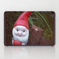 gnome iPad Cases featuring Chubby Gnome by ADH Graphic Design