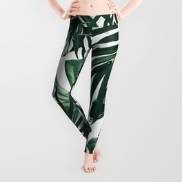 Tropical Jungle Leaves Pattern #4 #tropical #decor #art #society6 Leggings