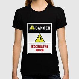 Danger Excessive Juice - Football T-Shirt T-shirt