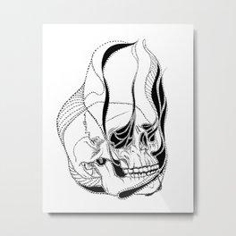 Soul Sucking Skull Metal Print