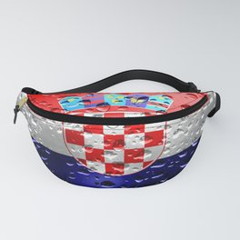 Flag of Croatia - Raindrops Fanny Pack