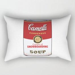 Camell's Soup CREAM OF SNOWBOARDING Pop Art Rectangular Pillow