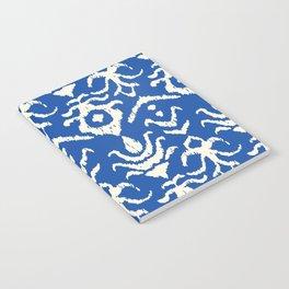 Blue Ikat Damask Print Notebook
