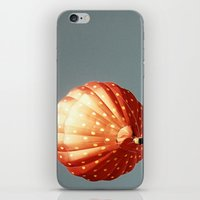baloon iPhone & iPod Skins featuring Strawberry hot air baloon by Wood-n-Images
