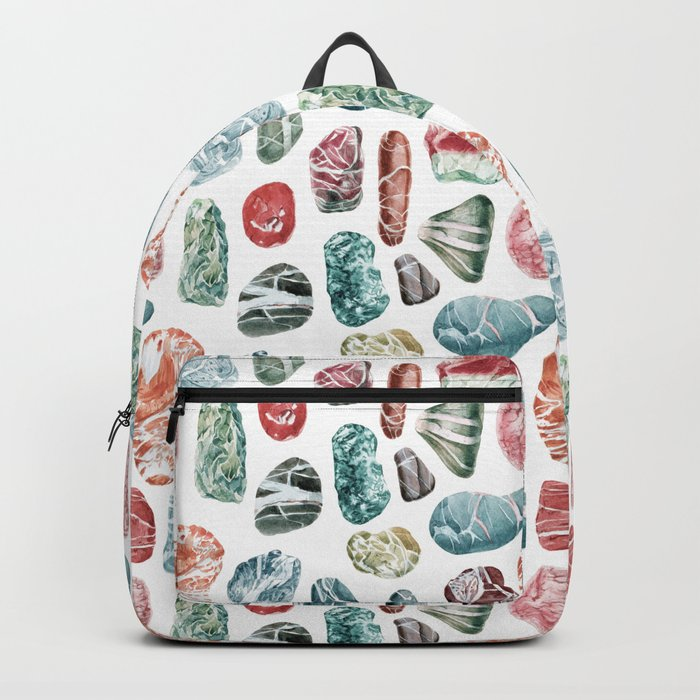 Coral Sea Pebbles Pattern Backpack
