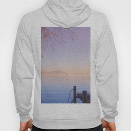 Peaceful Winter Sunset Over The Sea Hoody