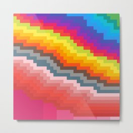 Pixel art rainbow Metal Print